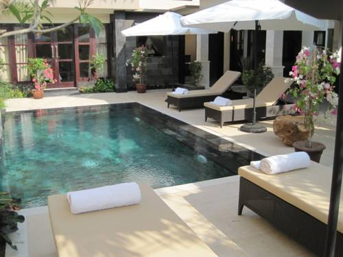 Pool facing Bedrooms 1 & 2 of 3 Bedroom Villa Bali